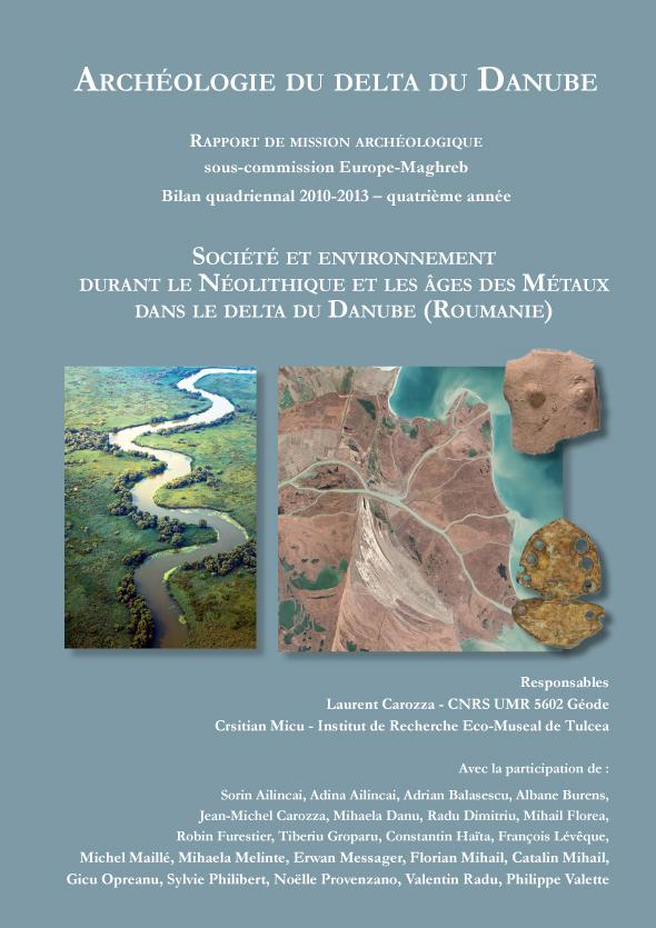 """couverture du rapport 2010-2013 de la mission """"delta du Danube"""""""